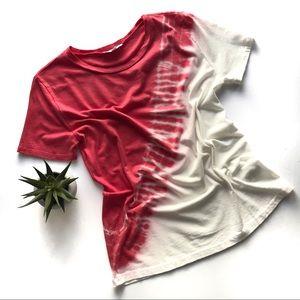 Diagonal tie dye T-shirt- Size S